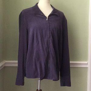 Style & Co. Women's Size 18 Purple Zippered Jacket
